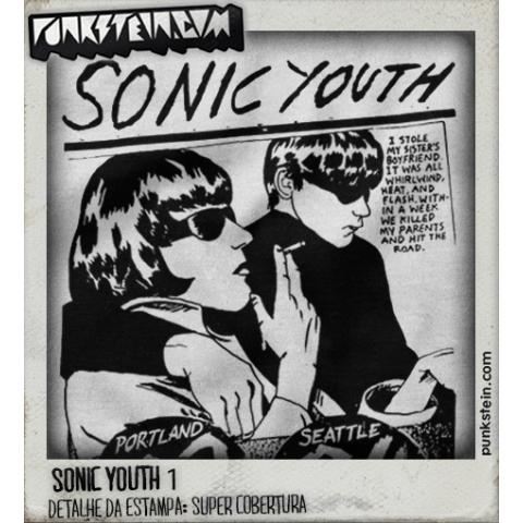 Manga Longa Masculina Sonic Youth 1