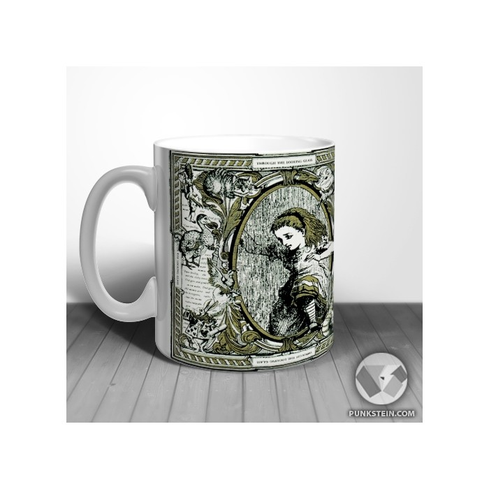 Caneca Alice looking Glass