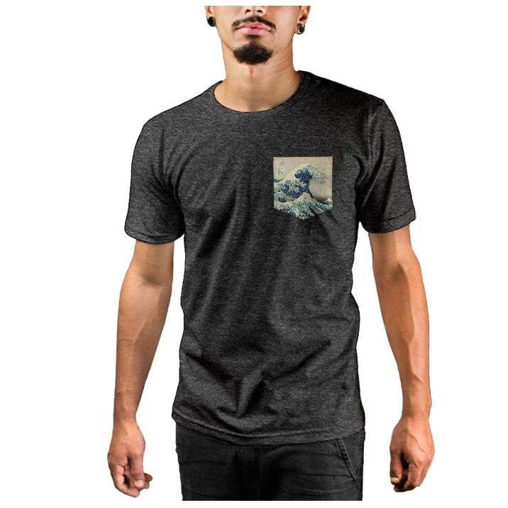 Camiseta c/ Bolso Wave of Kanagawa