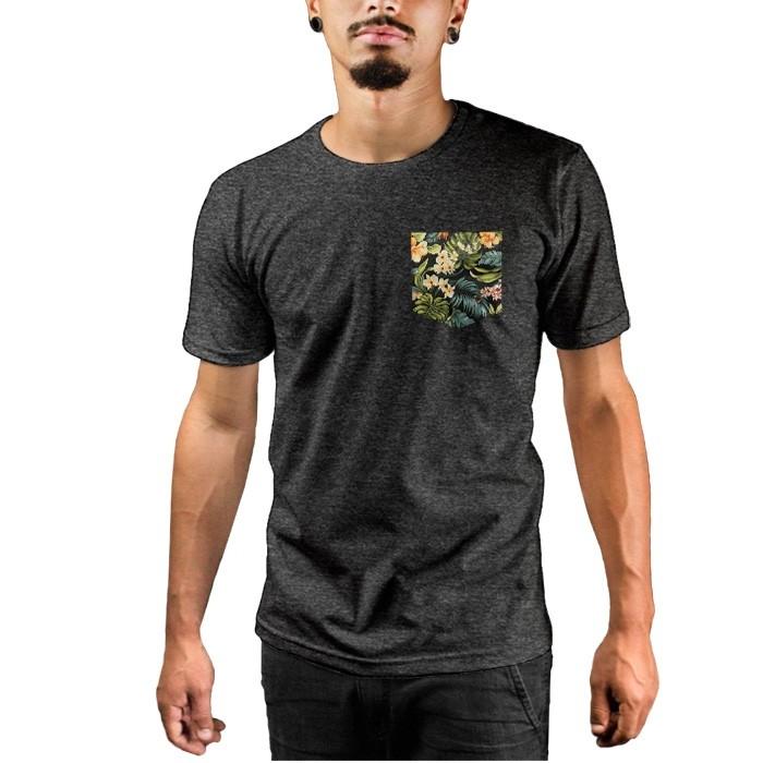 Camiseta c/ Bolso Floral