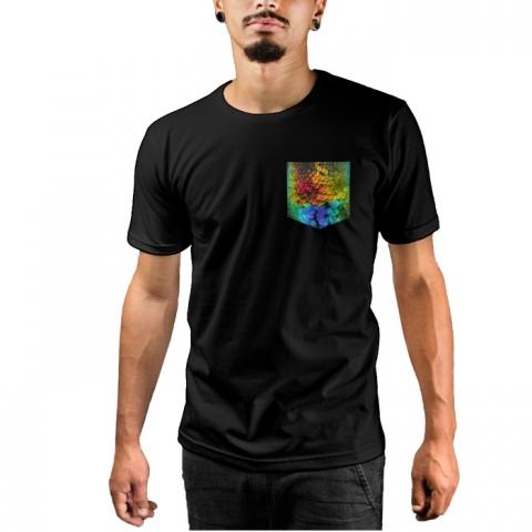 Camiseta c/ Bolso Feathers