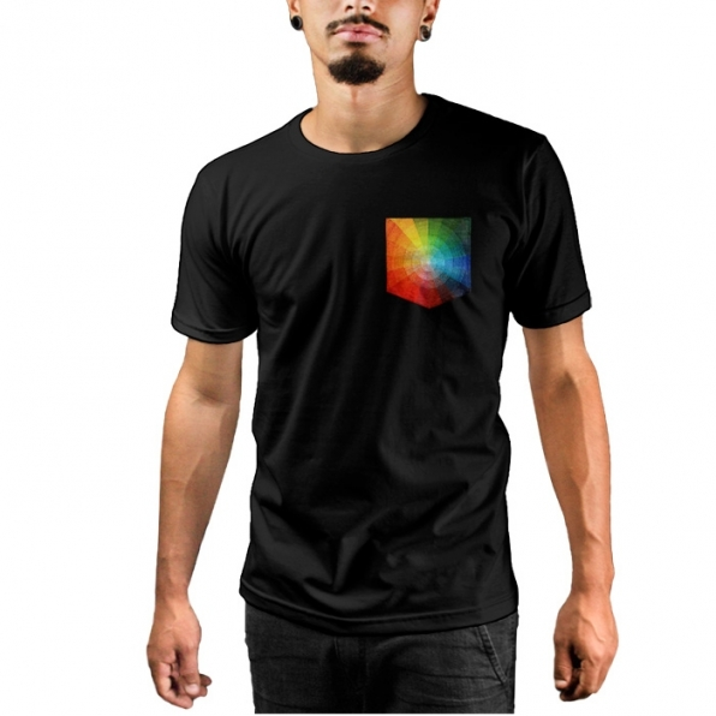Camiseta c/ Bolso Color Circle
