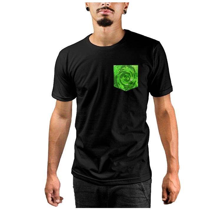 Camiseta c/ Bolso Rick and Morty's Portal