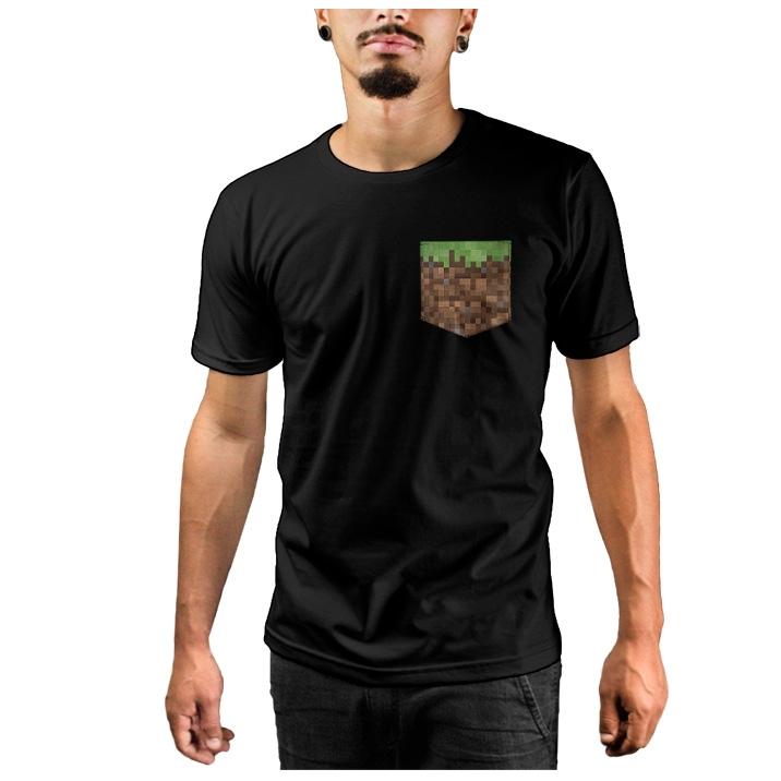 Camiseta c/ Bolso Minecraft