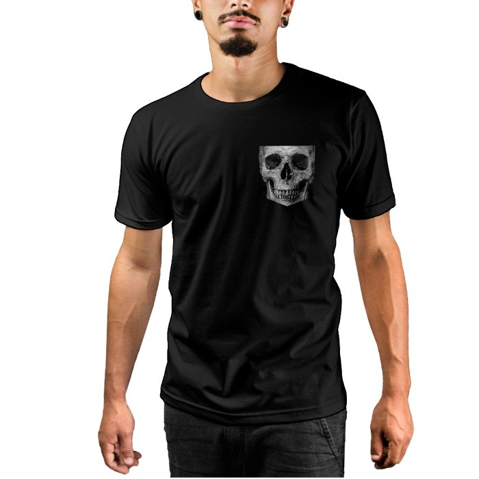 Camiseta c/ Bolso Skull
