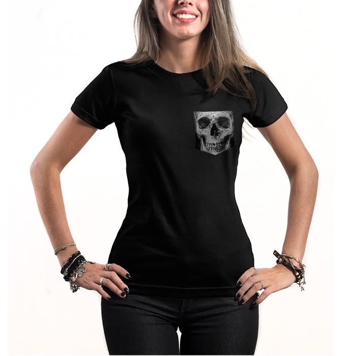 Babylook c/Bolso Skull