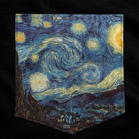 Camiseta c/ Bolso Van Gogh - Starry Night