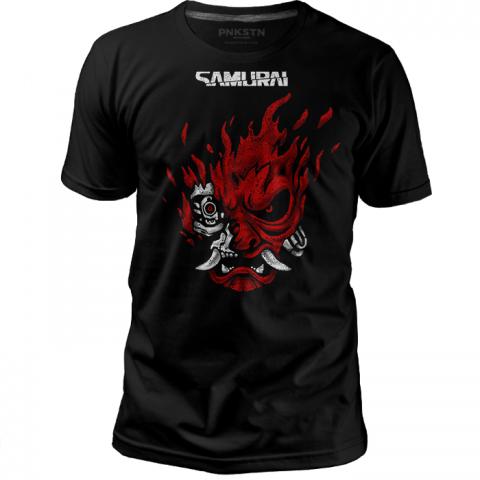 Camiseta Cyberpunk Samurai