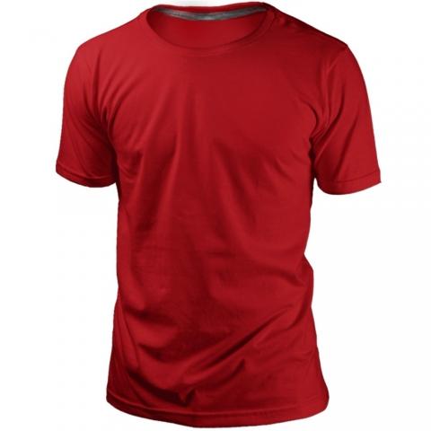 Camiseta Vermelha Sem Estampa