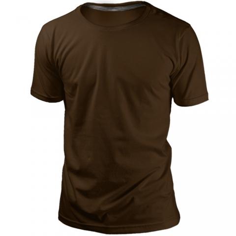 Camiseta Marrom Sem Estampa