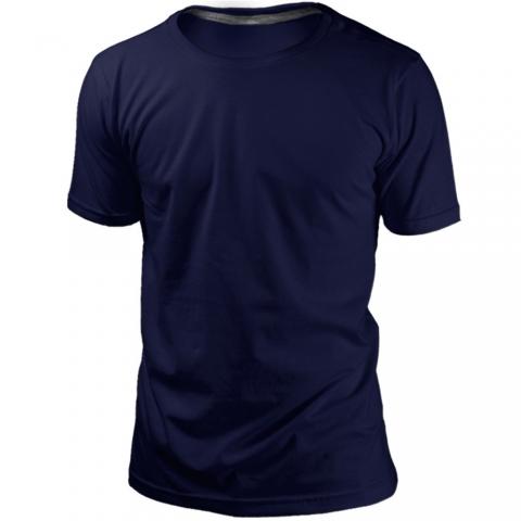 Camiseta Marinho Sem Estampa