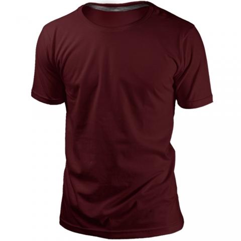 Camiseta Vinho Sem Estampa