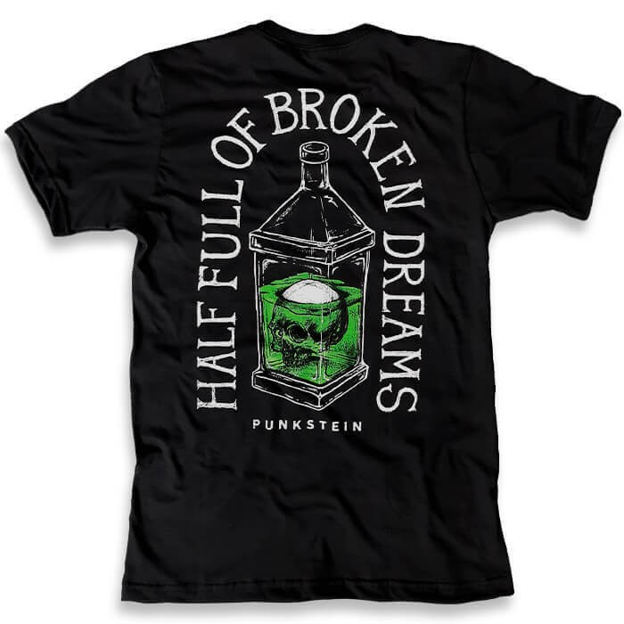 Camiseta Half Full of Broken Dreams