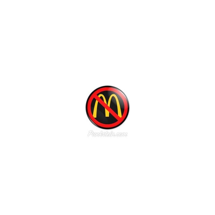 Botton NO McDonald's