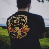 Cobra Kai punkstein.com A gente tem estampa de séries, filmes, bandas e artes lindas e exclusivas estampadas na melhor camiseta que vc vai achar nas internets da vida🤘🏼 . . #camiseta #series #filmes #filme #serie #cobrakai #netflix #tshirt