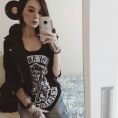 Sons of Anarchy via punkstein.com . . . #soa #sonsofanarchy #camiseta #tshirt #tee